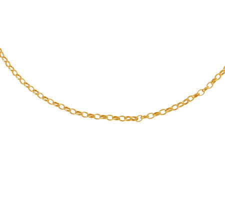 "16"" Polished Oval Rolo Link Necklace, 14KGold 3.6g"