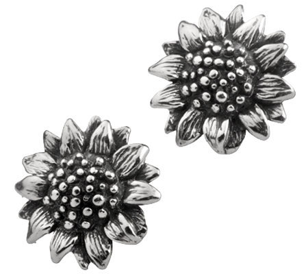 Or Paz Sterling Sunflower Stud Earrings