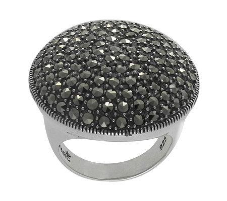 Suspicion Sterling Marcasite Ring