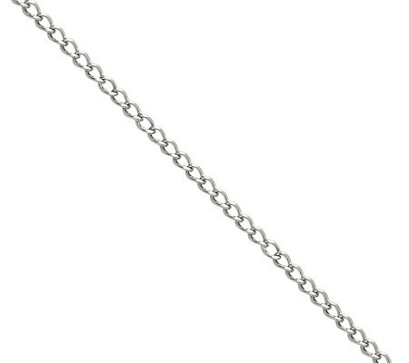 "Stainless Steel 3.0mm 24"" Curb Chain Necklace"