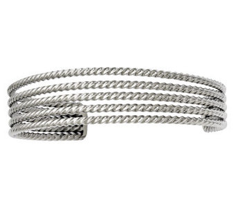 Stainless Steel Textured Multi-Strand Cuff - J312030
