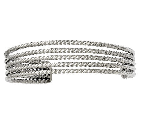 Stainless Steel Textured Multi-Strand Cuff