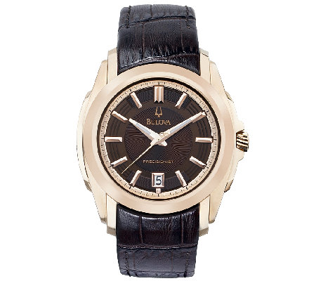Bulova Men's Precisionist Brown Dial Strap Watch