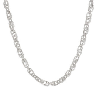"Vicenza Silver Sterling 16"" Diamond Cut Triple Rolo Necklace, 13.5g - J317730"