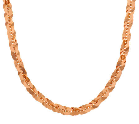 """As Is"" Bronzo Italia 24"" Polished Paillette Link Design Necklace"