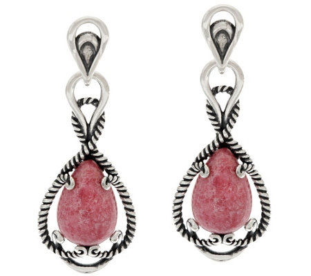 Carolyn Pollack Sterling Silver Gemstone Signature Earrings