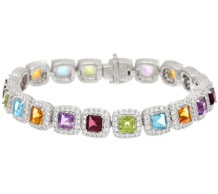 Judith Ripka Gemstone & Diamonique Small Bracelet