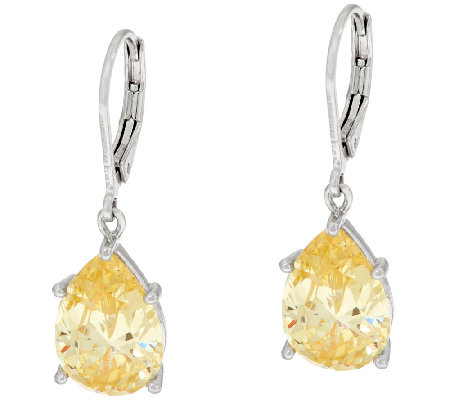 The Elizabeth Taylor Simulated Canary Diamond Drop Earrings