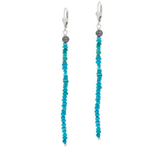 Jennifer Nettles Sterling Silver Gemstone Bead Drop Earrings - J323930