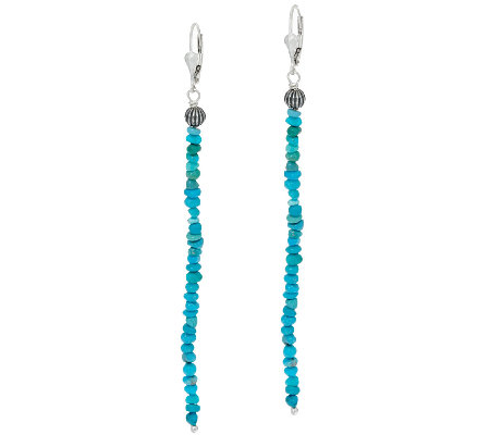 Jennifer Nettles Sterling Silver Gemstone Bead Drop Earrings