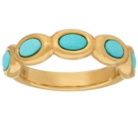 14K Gold Sleeping Beauty Turquoise Band Ring