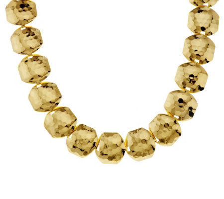 """As Is"" Joan Rivers Classic Collar Style Hammered Link Necklace"