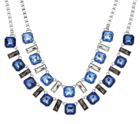 Susan Graver Multi-Chain Statement Necklace