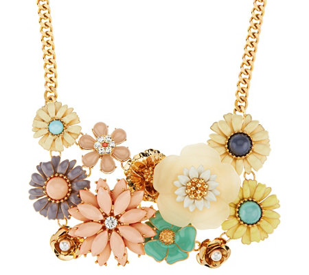 """As Is"" Joan Rivers Floral Confection 18"" Bib Necklace"