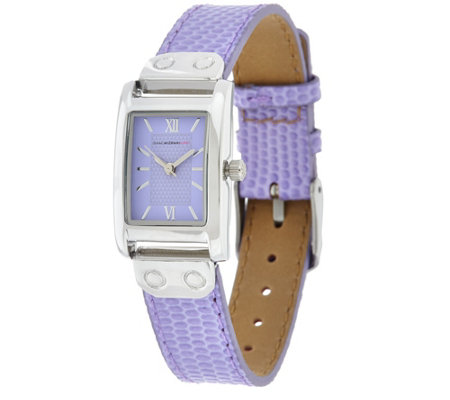 Isaac Mizrahi Live! Rectangular Dial Strap Watch