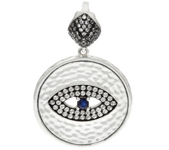 Luv Tia Sterling Silver All Seeing Eye Enhancer - J330230