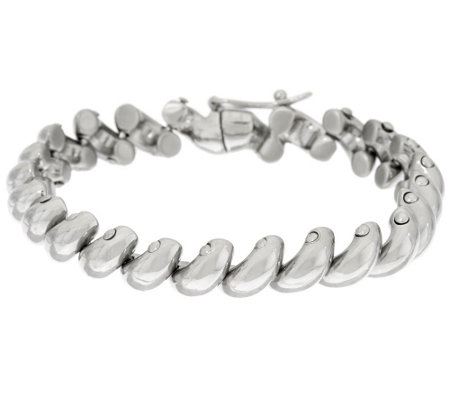 """As Is"" Stainless Steel San Marco Line Bracelet"