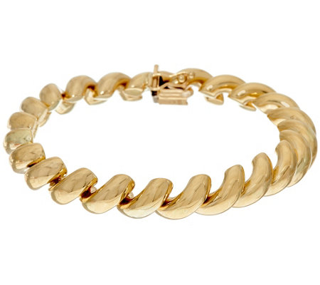 """As Is"" 14K Gold 6-3/4"" Polished San Marco Bracelet, 14.1g"