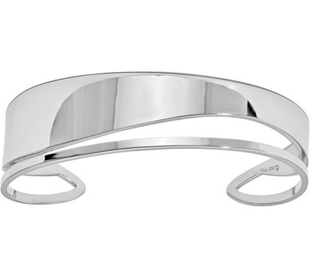 Italian Silver Contemporary Cuff Sterling, 24.2g