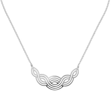 Italian Silver Grooved Braided Necklace, Sterling, 5.0g