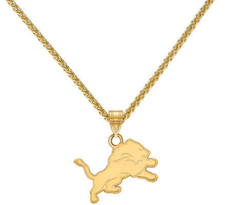 "Sterling & 14K NFL Medium Pendant with 18"" Chain"