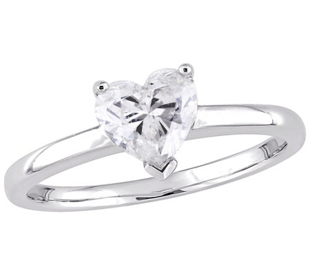 Affinity 14K Gold 1 cttw Heart-Shaped Diamond Solitaire Ring