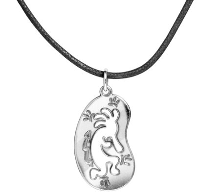 American West Sterling Kokopelli Necklace