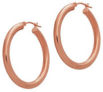 "EternaGold 1-1/2"" Polished Round Hoop Earrings,14K Gold - J383330"