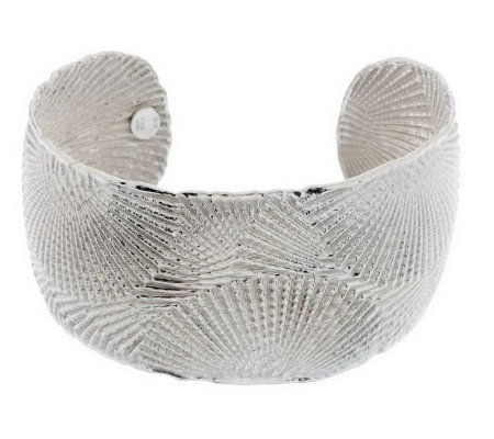 """As Is"" Italian Silver Sterling Average Textured Cuff"