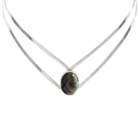 Dominique Dinouart Black Mother-of-Pearl Sterling Collar