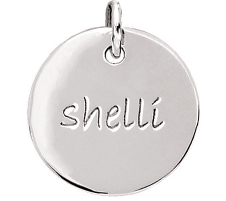Posh Mommy Sterling Medium Disc Pendant