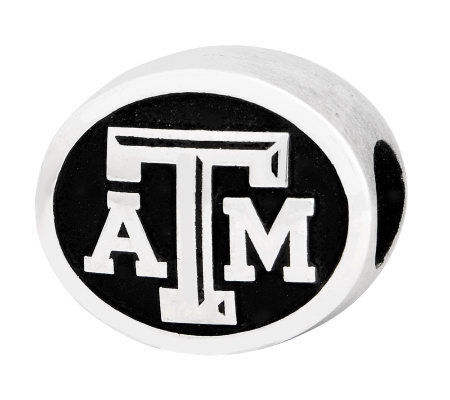 Sterling Silver Texas A & M University Bead
