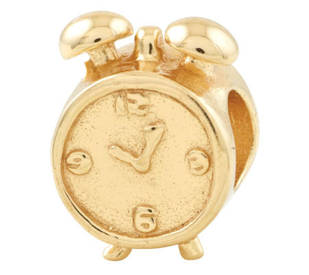 Prerogatives 14K Yellow Gold-Plated Sterling Alarm Clock Bead