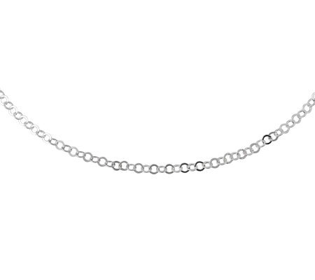 "UltraFine Silver 20"" Circular Link Chain Necklace, 2.8g"