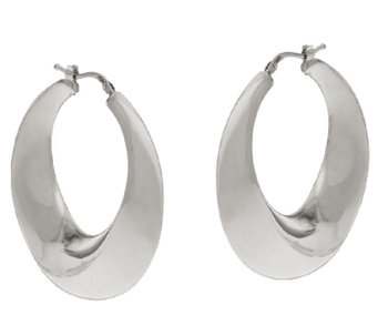 VicenzaSilver Sterling Graduated Round Hoop Earrings - J320431