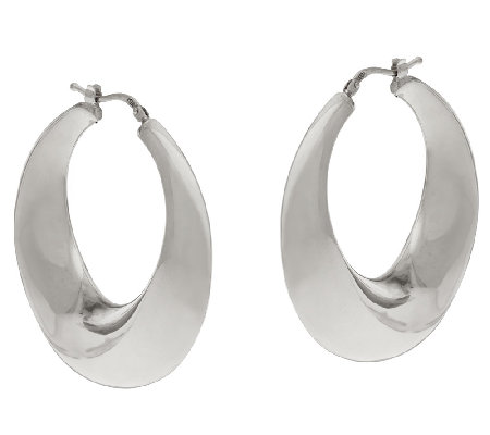 VicenzaSilver Sterling Graduated Round Hoop Earrings