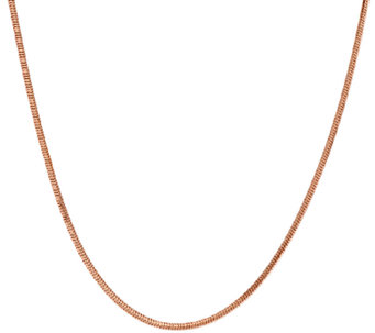 "Bronze 22"" Adjustable Snake Chain Necklace by Bronzo Italia - J321631"