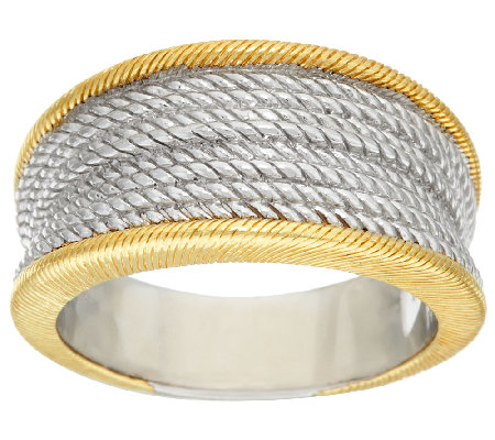 Judith Ripka Sterling & 14K Clad Two-tone Ring