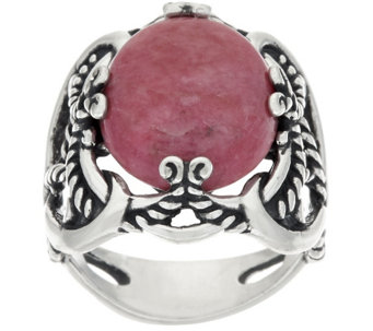 Carolyn Pollack Sterling Silver Oval Gemstone Signature Ring - J322331
