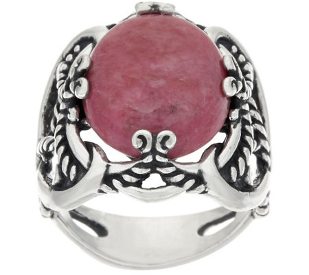 Carolyn Pollack Sterling Silver Oval Gemstone Signature Ring