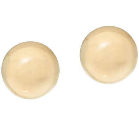 EternaGold Polished 8mm Ball Stud Earrings 14K Gold