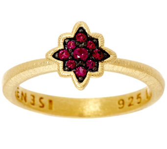 Genesi 18K Clad Ruby Star Stack Ring - J330231