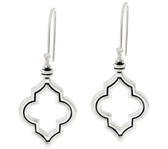 JAI Sterling Silver Taj Texture Dangle Earrings - J330531