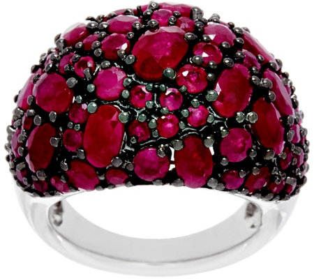 Precious Gemstone Multi-Cut Sterling Silver Ring, 5.00 cttw
