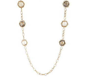 """As Is"" Joan Rivers Captured Brilliance 46"" Necklace with 3"" Extender - J334031"