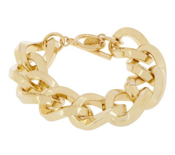"""As Is"" Kenneth Jay Lane's Twisted Link Bracelet - J334431"
