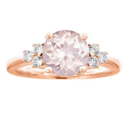 Premier 1.90cttw Morganite & 1/5cttw Diamond Ring, 14K