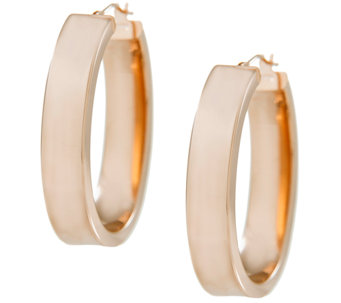 Arte d'Oro Polished Bold Oval Hoop Earrings, 18 K - J337031