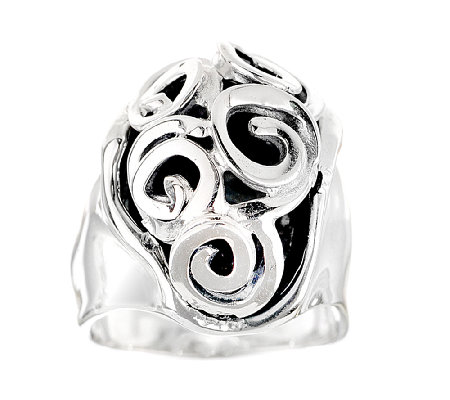 Hagit Sterling Swirl Cutout Ring