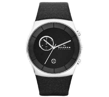 Skagen Men's Black Chronograph Dial Watch